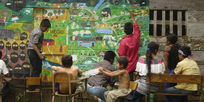 Colectivo Pintar Obedeciendo. Escuelitas Zapatistas