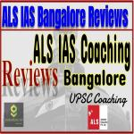ALS IAS Coaching Bangalore Reviews