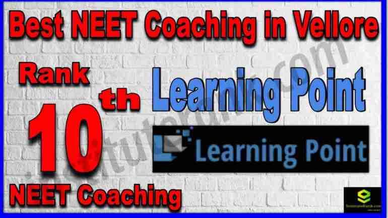 Rank 10th Best NEET Coaching in Vellore