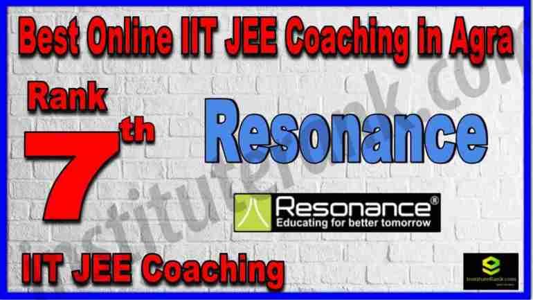 Rank 7th Best Online IIT JEE Coaching in Agra