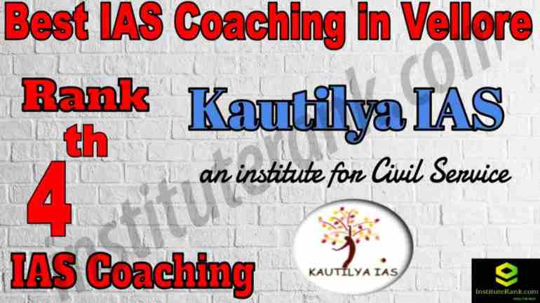 4th Best IAS Coaching in Vellore
