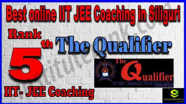 Rank 5th Best Online IIT-JEE Coaching in Siliguri