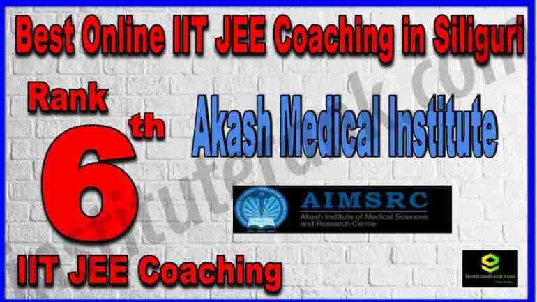 Rank 6th Best Online IIT-JEE Coaching in Siliguri