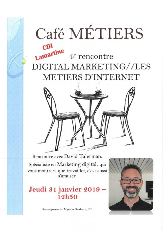 Café métiers lycée Lamartine : Digital marketing et métiers d'internet