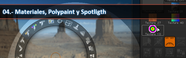 Materiales, Polypaint y Spotligth.