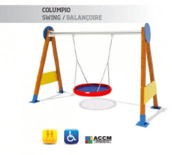 Columpio Swing/Balancoire accesible para niños con movilidad reducida