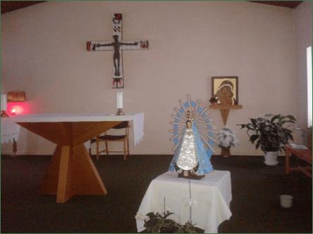 El día 8 de Mayo la imagen de la Virgencita de Luján fue colocada en el presbiterio de la única parroquia católica de Groenlandia, a cargo de los misioneros del Instituto del Verbo Encarnado