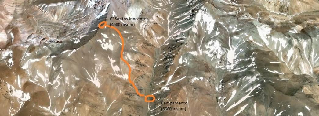 'Ataque' a la cumbre del cerro Santos Inocentes