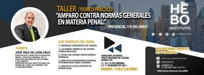 "Taller (Teórico-Práctico) ""Amparo Contra Normas Generales en Materia Penal"""