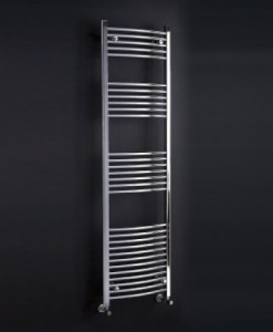 GALLINI CURVED TOWEL RAIL CHROME