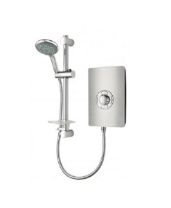 Triton Aspirante Electric Shower 9.5Kw - Brushed Steel