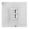 Cubik Square Twin Thermostatic Shower Valve