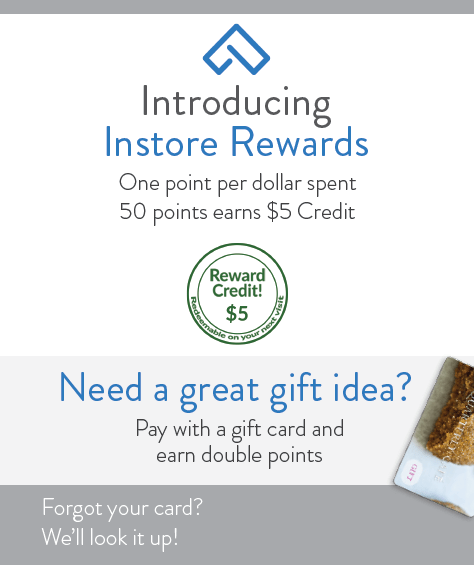 Instore Rewards Flyer