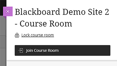 Blackboard Collaborate Ultra Course Room join button