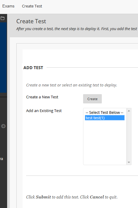 Add test dialogue box with test.test(1) example highlighted