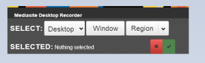 screenshot of MDR default options with nothing selected