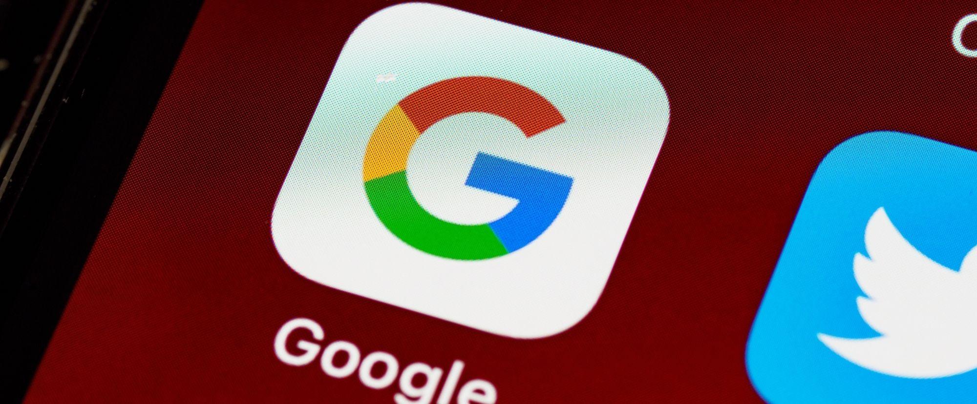 Google app on ipad