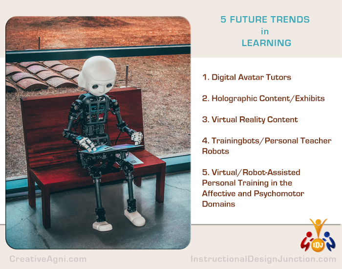 5 Future trends in learning - AR, VR, Robots, Virtual reality rooms