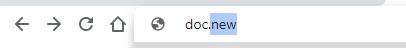 new doc browser bar screenshot