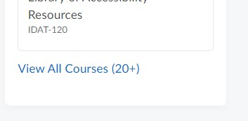 brightspace course widget view all courses