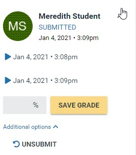 voicethread grading individual student view