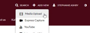 kaltura mediaspace upload