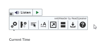 readspeaker webreader button with options menu open
