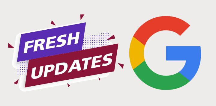 google updates header