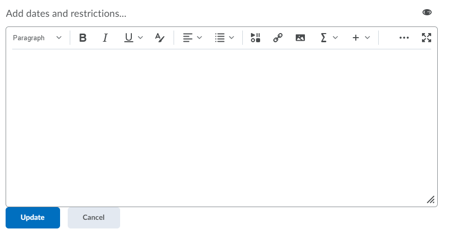 brightspace text editor