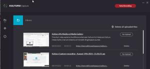 kaltura capture desktop manager example