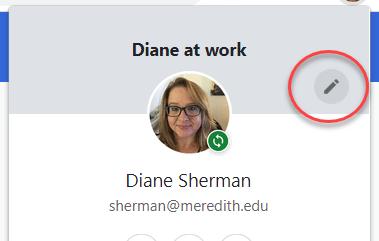 google customize profile