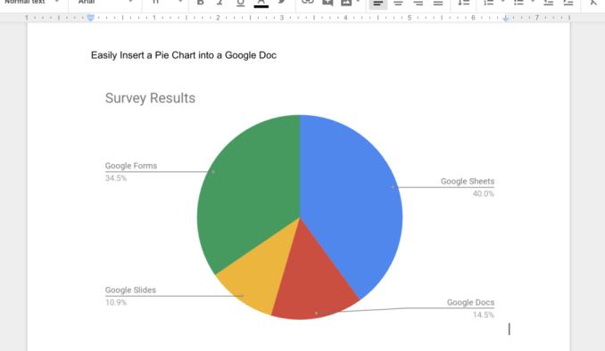 easily insert a pie chart into a google doc instructional tech talk