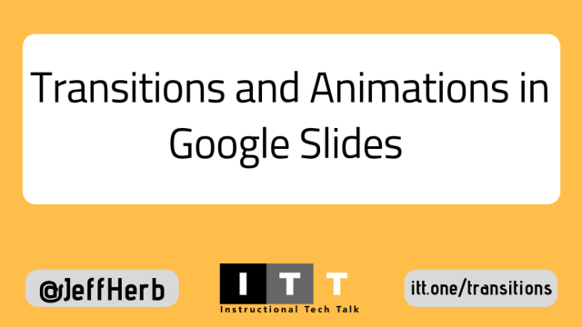 How to Add Transitions and Animations to Google Slides