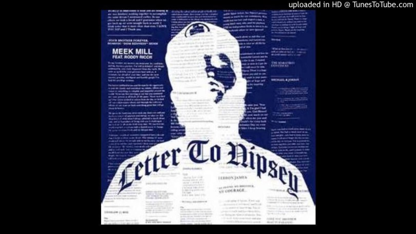 Meek Mill ft Roddy Ricch - Letter to Nipsey (Instrumental) Mp3 Download