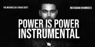 The Weeknd, SZA & Travis Scott Power is Power Instrumental