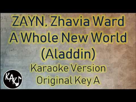 ZAYN, Zhavia Ward - A Whole New World Karaoke Instrumental