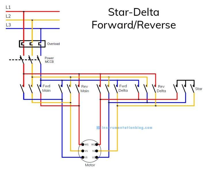 star delta forward reverse