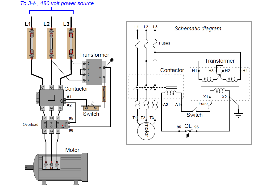 Wiring Diagram Of Overload Relay