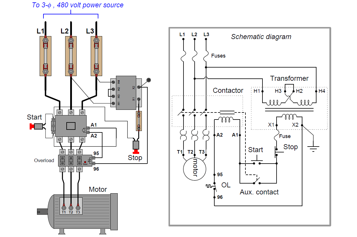 Schematic Diagram Of Motor Control