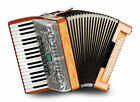 Accordeon Concertina Professionnel 96 Basses 34 Touches 9 Registres Bois Olivier