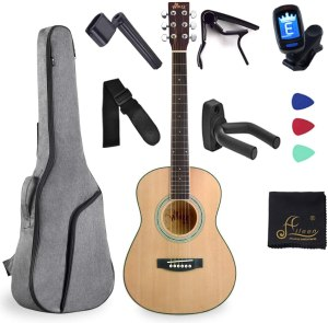 WINZZ 3/4 Spruce Acoustic Guitar for Beginners Students Kids with Advanced Kit Right Handed, 36 Inches
