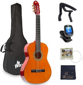 WINZZ 39 Inches Classical Guitar Full-Size Beginner