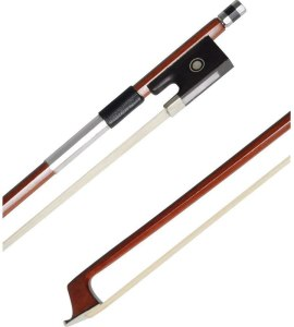 ADM 4/4 Full Size Student Violin Bow, Well Balanced Handmade Brazilwood Bow with Horsehair
