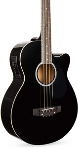 Best Choice Products Acoustic Electric Bass Guitar - Full Size, 4 String, Fretted Bass Guitar – Black