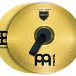 Meinl 14″ Marching Cymbal Pair with Straps – Brass Alloy Traditional Finish – Made In Germany, 2-YEAR WARRANTY (MA-BR-14M)