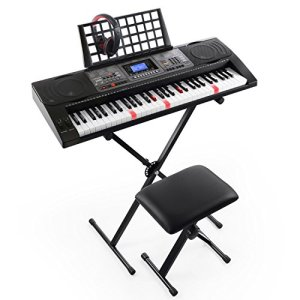 Joy 61-Key Lighted Touch Sensititive & USB-Midi(App) Keyboard Kit