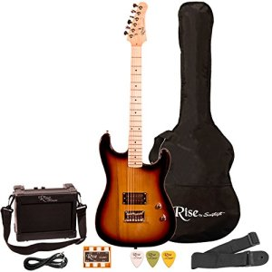 Rise by Sawtooth Electric Guitar Pack, Sunburst