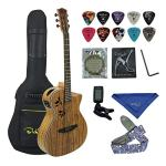 Bailando 40 Inch Acoustic Electric Cutaway Guitar, Top Spruce Back and Sides, 4 Band EQ