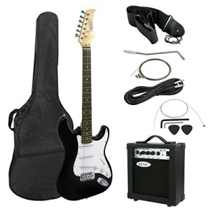 "ZENY 39"" Full Size Electric Guitar with Amp, Case and Accessories Pack"