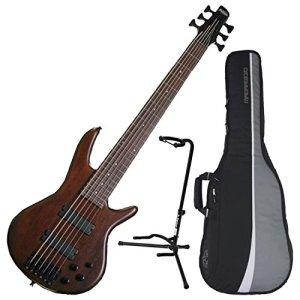 Ibanez 6-String Electric Bass Walnut Flat Finish